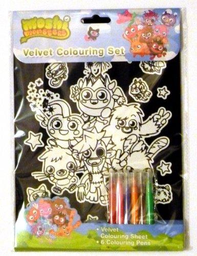 Image of Alligator Books Moshi Monsters Velvet Colouring Set