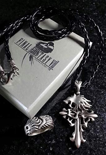 Cosplay Leonhart Kostüm Squall - Final Fantasy VIII Squall Griever Halskett & Ring | FF8 Necklace Kostüm Cosplay Dissidia XV 15