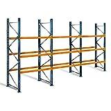 Palettenregal mit 4 Ebenen, 4 m Höhe, 8,5 m Breite - für 36 Europaletten