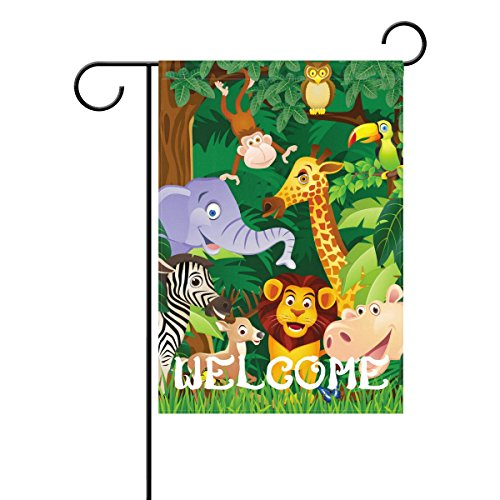 My Daily Welcome Cartoon Tiere Deko doppelseitig Garden Flagge 12x 18& 71,1x 101,6cm (Winter Eule Garten Flag)