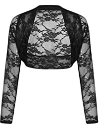 Long Sleeve Cropped Lace Bolero Shrug