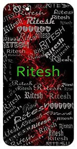 Ritesh (Lord Of Truth) Name & Sign Printed All over customize & Personalized!! Protective back cover for your Smart Phone : Samsung Galaxy E5