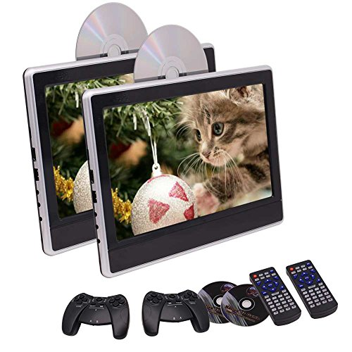 Fond-entertainment-system (11,6-Zoll-Tablet-Stil ultrad¨¹nne Dual-Auto-Kopfst¨¹TZE DVD-Spieler 2 St. Fond-Entertainment-Systeme Unterst¨¹Tzung USB/SD / HDMI/IR / FM Transmitter Twin Screens in Packung)