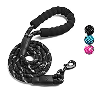 ADOGO® Rope Dog Lead with Soft Padded Handle and Reflective Threads Nylon Durable Dog Leash Safety 5FT Mountain Climbing… 20