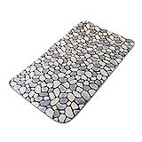 LOVIVER Tür Fußmatten Bereich Teppich Wohnkultur Küche Schlafzimmer Matte Memory Foam Fußmatte - Grau 80x50cm