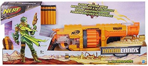 Nerf Lawbringer Blaster Pistol - armas de juguete (Niño/niña, Naranja, Amarillo, Toy pistol, Caja)