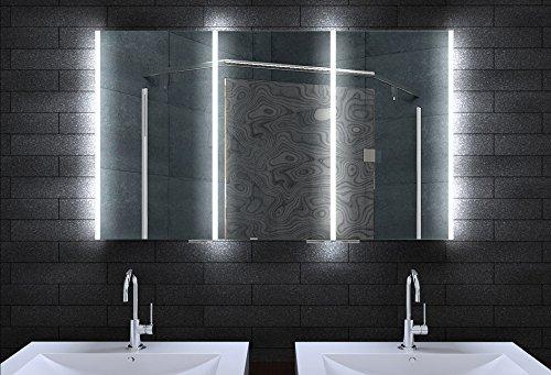 #Alu Badschrank badezimmer spiegelschrank bad LED Beleuchtung 120x70cm MLA12700#