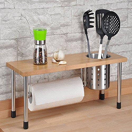 Küchenregal: Elegant und praktisch zugleich, mit Edelstahlbecher u. Rollenhalter 55x20x20cm:: mehr erfahren>&#8220; border=&#8220;0&#8243; width=&#8220;400&#8243; class=&#8220;img-rounded img-responsive&#8220; /></a></div><div class=