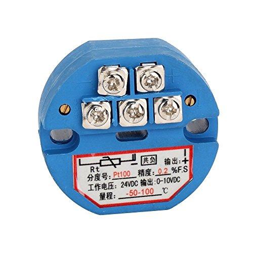 Temperatur Messumformer - TOOGOO(R)RTD PT100 Temperatur Messumformer DC24V Minus 50~100 Grad Ausgang 0-10V -