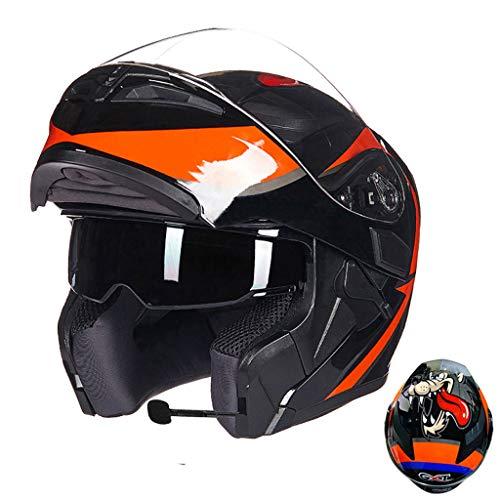 Preisvergleich Produktbild Motorradhelm Männer und Frauen Anti-Fog-Objektiv Motorradhelm (Farbe : B,  größe : L(58-59cm0)