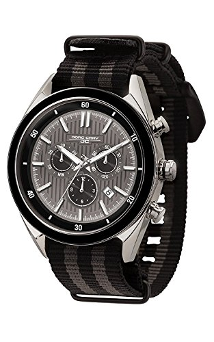 Jorg Gray JG6900–23N para Hombre Reloj cronógrafo Gris Dial Dos Tonos Correa de la OTAN