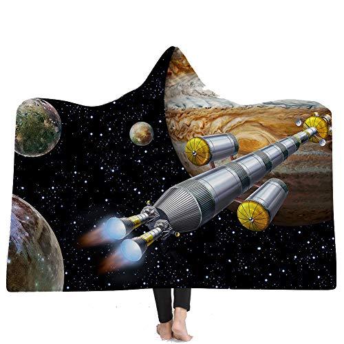 NSSZ Manta Encapuchada de los niños/Adulto Manta Encapuchada usable Manta del Juego Manta de la Foto del niño/Adulto, Manta de Lana Encapuchada