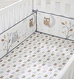 Best GERBER Beddings - Cuddletime Starry Night Owls Crib Bumper, Gray Review