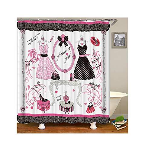 Coniea Bad Vorhang Für Badzimmer Quadrat Duschvorhang Mehrfarbig Badewanne Antirutsch 150X200Cm