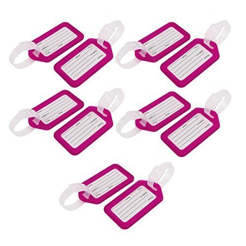 10 Pcs coffret rectangulaire en plastique violet iD étiquette de bagage de
