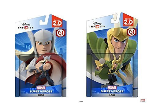 Disney Infinity Thor and Loki Marvel Avengers Super Heroes 2.0 Bundle - Not Machine Specific by Disney Infinity (Infinity Ps3-bundle)