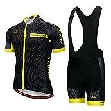 JOGVELO Maglia Ciclismo, Abbigliamento Ciclismo Set Bpdy Tuta MTB Sportivo Professionale Gel Pad per Uomo XL