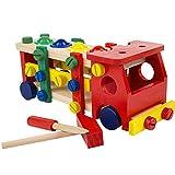 Meliya Holz Mutter und Schraube Building Konstruktion Spielzeug Auto Holz Knocking Ball Spielzeug