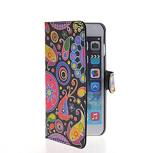 MOONCASE Meteor Coque en Cuir Portefeuille Housse de Protection Étui à rabat Case pour Apple iPhone 6 Plus A16131