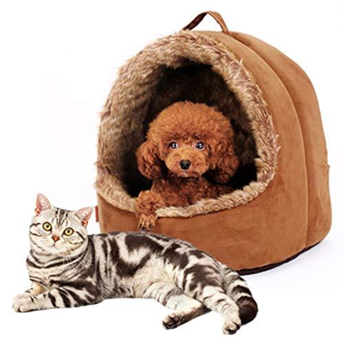 MAOMEI Halboffene Plüschtier Zimmer, Herbst und Winter warme Jurte, Kennel, Hundehütte, Teddy Bear Kennel,