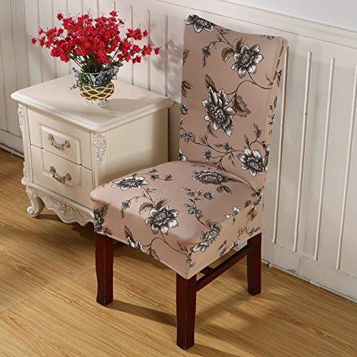 Floral Print Brief Esszimmerstuhl Abdeckung Spandex Elastische Anti-Dirty Slipcovers Stretch Abnehmbare Hotel Bankett Sitz Fall 15 universal