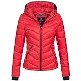 Marikoo Kuala Damen Jacke Steppjacke Übergangsjacke gesteppt XS-XXL 15Farben, Größe:L / 40;Farbe:Rot