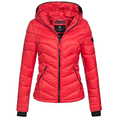 Marikoo Kuala Damen Jacke Steppjacke Übergangsjacke gesteppt XS-XXL 15Farben, Größe:XXL / 44;Farbe:Rot