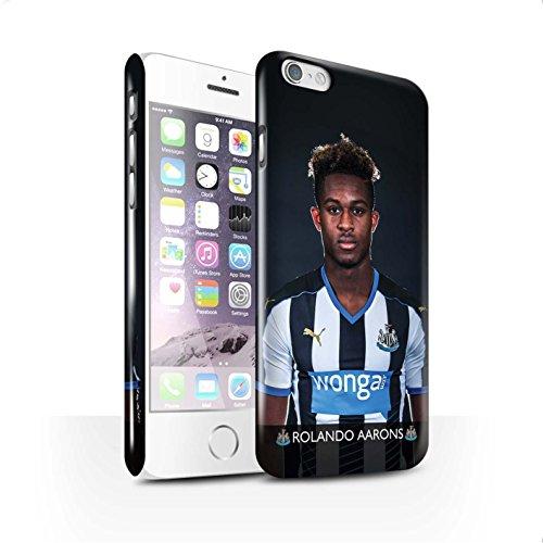 Officiel Newcastle United FC Coque / Clipser Brillant Etui pour Apple iPhone 6 / Pack 25pcs Design / NUFC Joueur Football 15/16 Collection Aarons