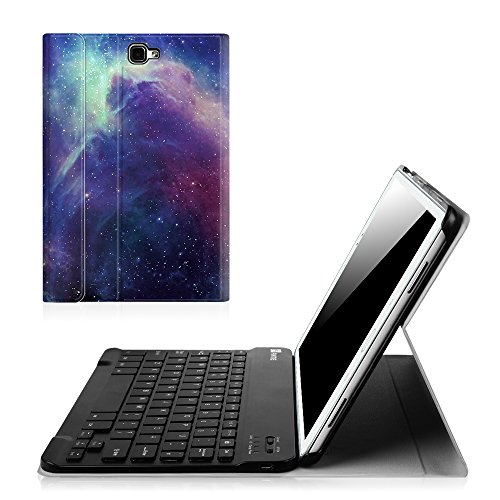 Fintie Blade X1 Samsung Galaxy Tab A 10.1 Bluetooth Tastatur Hülle Keyboard Case - Ultradünn leicht SmartShell Ständer Schutzhülle mit magnetisch abnehmbar drahtloser Deutsche Bluetooth Tastatur für Samsung Galaxy Tab A 10,1 Zoll T580N / T585N Tablet (2016 Version), DieGalaxie