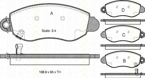 Triscan 8110 16007 - Kit Pastiglie Freno, Freno A Disco