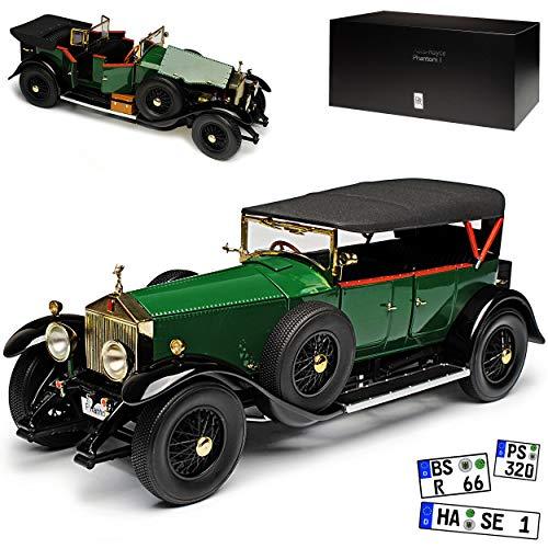 Kyosho Rolls-Royce Phantom I Cabrio mit Dach Grün 1925-1931 1/18 Modell Auto - Phantom Rolls-royce Modell