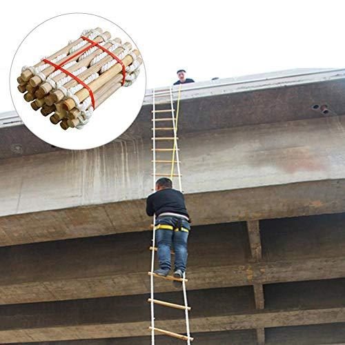 Kindlyperson Escalera de Cuerda de Cuerda de Salvamento de 5M y 3M para el hogar