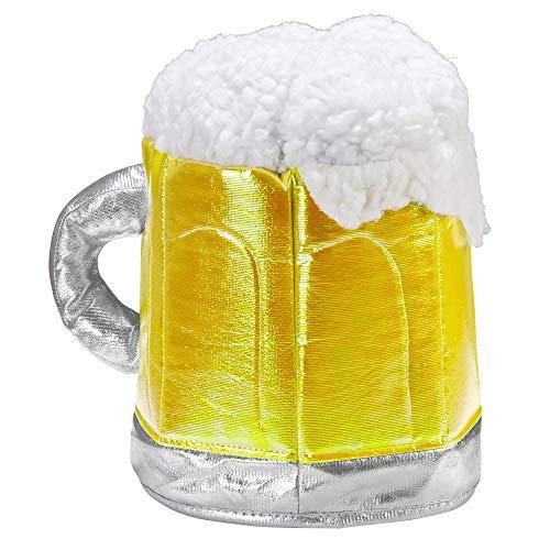 Widmann 09642 Bierkrug Hut, Gelb/Weiß