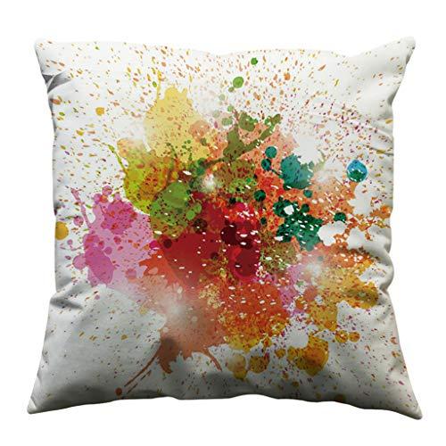 DRESS_start ★Minimalist Square Throw Pillow Case Protectors Cotton Soft  Sofa Throw Cushion Cover Home Decor(B,45x45 cm)