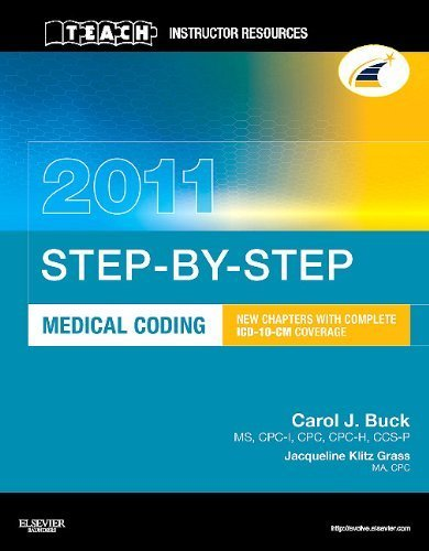 TEACH Instructor Resources (TIR) Manual for Step-by-Step Medical Coding 2011 Edition by Buck (2010) Paperback par Buck