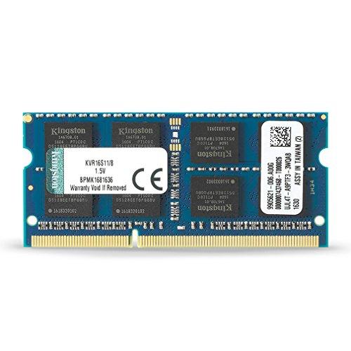 Kingston KVR16S11/8 Memoria RAM da 8 GB, 1600 MHz, DDR3, Non-ECC CL11 SODIMM, 204-pin 1.5 V