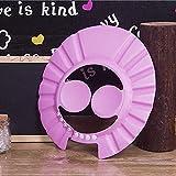 Ibepro bebé gorro de ducha con protección para los oídos almohadillas cómodo suave ajustable Champú Ducha Baño Gorro para bebé Niños Niños Pink 2