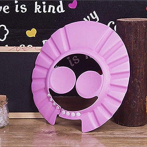 Ibepro bébé Bonnet de douche avec coussinets de protection auditive confortable réglable doux Shampooing Bonnet de douche Bain pour bébé enfants Enfants