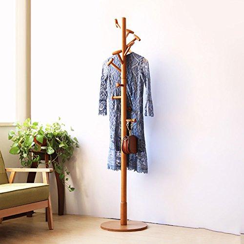 LFF-Kleiderablage Einfache einzelne Rod-Landungs-Aufhänger Weiße natürliche Farbe Brown-hölzerne Trommel-und Mantel-Gestell-einfacher Haushalt (Hölzerne Trommel)