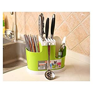 ShopAIS Plastic Cutlery Bin for Kitchen Countertop (Assorted)