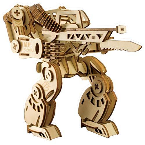 Wq zxc 3D-Puzzle Laserschneiden 3D Dreidimensionales Holzpuzzle AMP Mechanische Rüstung Kinderpuzzle 3D-Puzzle Zusammengesetztes Holzmodell