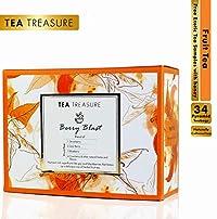TeaTreasure Berry Blast Fruit Tea - A Blend of Berries with Natural Herbs - 2 Teabox