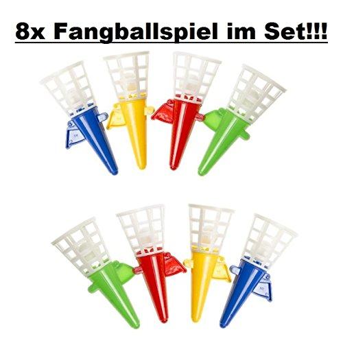 Lg-Imports 8er Set Fangbecher Fangballspiel Ball Spiel Spaß für draußen Kindergeburtstag