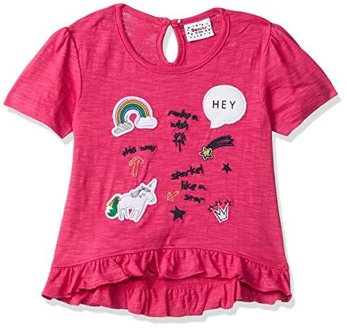 Donuts by Unlimited Baby Girls' Plain Regular Fit T-Shirt (400017539836_Fuchia_12M)