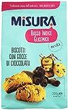 Misura - Biscotti con Gocce di Cioccolato, Basso Indice Glicemico - 2 confezioni da 200 g [400 g]