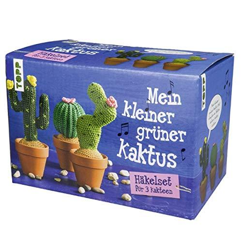 Mein kleiner grüner Kaktus - Häkelset für 3 Kakteen: Komplett-Set zum Sofort-Loslegen mit Garn, Häkelnadel und Tontöpfen für 3 trendige Häkel-Kakteen