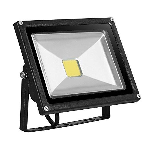 10W/20W/30W/50W/100Wwarmweiß mit schwarz Aluminium Gehäuse IP65 wasserdicht LED Lampe Squre Wandleuchter Fluter Flutbeleuchtung Flutlicht Scheinwerfer Außenstahler Leuchtmittel Energiesparend (20) (Outdoor-flut-licht Led Par38)