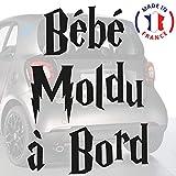 Sticker bébé à bord pour voiture Bébé Moldu à bord 20 cm Noir - Anakiss