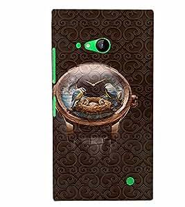 PrintVisa Cool Boy Watch 3D Hard Polycarbonate Designer Back Case Cover for Nokia Lumia 730