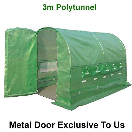 Rost-rahmen (FeelGoodUK Pro Polytunnel Gewächshaus verzinkt Anti Rost Stahl Rahmen + 3M X 2M X 2M)